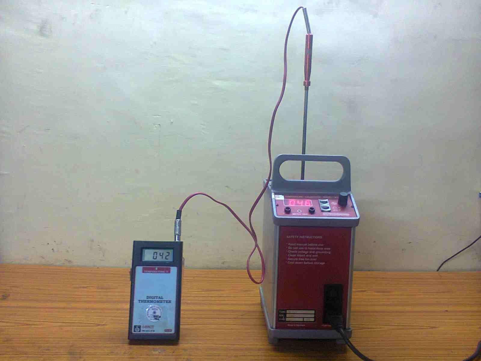 Temperature Calibration Marine Tech Automation